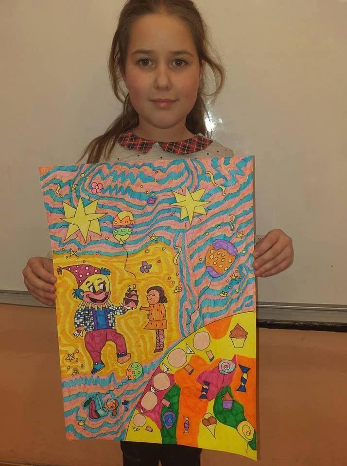 Виктория Въткова ученичка от 3а клас с награда от престижен конкурс за рисунка - голяма снимка