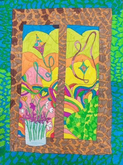 """XIII Национален конкурс за детска рисунка """"Пролет върху листа"""" - Кюстендил 2020 - голяма снимка"""