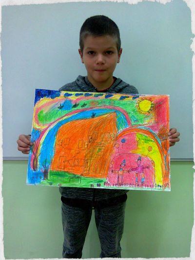 Участници в конкурс за детска рисунка,,Магията на доброто около нас - https://bg-bg.facebook.com/NacalnoUciliseEdinstvoPleven